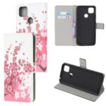 Pattern Printing Wallet Leather Stand Case for Xiaomi Redmi 9C – Plum Blossom