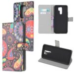 Pattern Printing Leather Wallet Case for Xiaomi Redmi 9 – Paisley Flowers