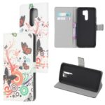Pattern Printing Leather Wallet Case for Xiaomi Redmi 9 – Butterfly Circles