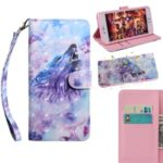 Light Spot Decor Patterned Leather Wallet Stand Case for Xiaomi Redmi 9 – Howling Wolf