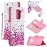 Pattern Printing Wallet Leather Stand Case for Xiaomi Redmi Note 9 – Hearts