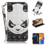 Pattern Printing Light Spot Decor Leather Wallet Casing with Lanyard for Xiaomi Redmi 9C – Panda