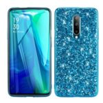 Glittering Sequins Plated TPU Frame + PC Hybrid Shell Case for Xiaomi Redmi K30 – Blue