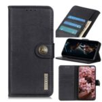 KHAZNEH Leather Wallet Stand Case for Wiko Y61 – Black