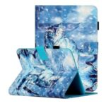 Light Spot Decor Pattern Printing Card Holder Leather Stand Case for 7-inch Tablets – Wolf