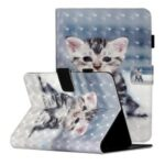 Light Spot Decor Pattern Printing Card Holder Leather Stand Protective Cover  for 8-inch Tablets – Cat
