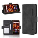 With Wallet Stand Leather Protective Case for Blackview BV6900 – Black