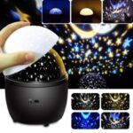 360-degree Rotating Starry Sky LED Projection Lamp with Night Light Function