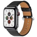 Genuine Leather Watch Strap for Apple Watch Series 5/4 40mm / Series3/2/1 38mm – Black