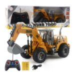 166-169 Remote Control Engineering Vehicle Excavator Remote Control Bulldozer Digging Children's Toy Model Car – Style A