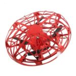 Interactive Funny Toy Flying Saucer Intelligent Induction UFO 4-axis Aircraft – Red