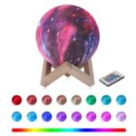 3D LED Night Light Table Desk Moon Lamp 16 Colors Colorful Painting with Remote – Diameter 8cm