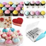 41Pcs/Set Cake Decorating Supplies Stainless Steel Nozzles Silicone Bag Muffin Cup Converter Nail Baking Kit