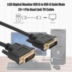 1.8m HD DVI-D to DVI – D 24+1 Male to Male Video Cable Video Converter Adapter