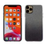 Gradient Color Glittery Powder PC+TPU Mobile Phone Cover for iPhone 11 Pro 5.8 inch – Black