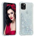 Pure Color Glitter Powder Quicksand TPU Special Cover for iPhone 12 5.4 inch – Silver
