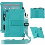 Kickstand PC + Silicone Tablet Case with Pen Holder Shoulder Strap for iPad mini 3/4/(2019) 7.9 inch – Green