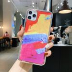 Painting Style IMD TPU Phone Case for iPhone 12 Pro/12 Max 6.1 inch – Style A