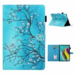 Pattern Printing Leather Card Holder Stand Tablet Cover for Samsung Galaxy Tab A7 10.4 (2020) T505/T507 – Flower Branch