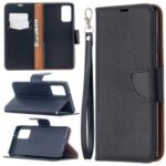 Pure Color Litchi Skin with Wallet Leather Cover for Samsung Galaxy Note 20/Note 20 5G – Black