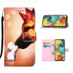Pattern Printing PU Leather Wallet Phone Cover for Samsung Galaxy A51 5G SM-A516 – Baby and Mother Animal