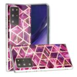 Marble Pattern Rose Gold Electroplating IMD TPU Case for Samsung Galaxy Note20 Ultra 5G / Galaxy Note20 Ultra – Rose
