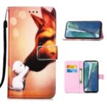 Pattern Printing Leather Case for Samsung Galaxy Note 20/Note 20 5G – Fox