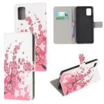 Pattern Printing Wallet Leather Phone Cover Case for Samsung Galaxy M51 – Flower