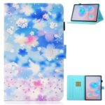 Printing Texture Leather Protective Cover for Samsung Galaxy Tab S7 T870/T875 – Petals