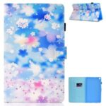 Printing Texture Leather with Card Holder Cover for Samsung Galaxy Tab A7 10.4 (2020) T500/T505 – Petals