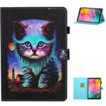 Printing Texture Leather with Card Holder Cover for Samsung Galaxy Tab A7 10.4 (2020) T500/T505 – Cat