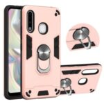 Detachable 2 in 1 with Rotatable Kickstand PC + TPU Cover for Samsung Galaxy A70e – Rose Gold
