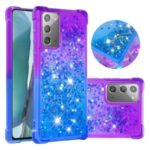 Shockproof Gradient Glitter Powder Quicksand TPU Shell for Samsung Galaxy Note 20/Note 20 5G – Purple / Blue