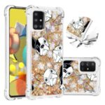 Liquid Glitter Powder Patterned Quicksand Shockproof TPU Back Case for Samsung Galaxy A51 5G SM-A516 – Dog