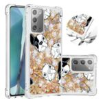 Liquid Glitter Powder Patterned Quicksand Shockproof TPU Back Case for Samsung Galaxy Note 20 5G / Galaxy Note 20 – Dog