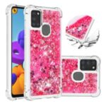 Dynamic Quicksand Shock-absorbing TPU Protection Phone Casing for Samsung Galaxy A21s – Rose