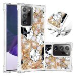 Liquid Glitter Powder Patterned Quicksand Shockproof TPU Back Case for Samsung Galaxy Note20 Ultra 5G / Galaxy Note20 Ultra – Dog