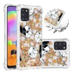 Liquid Glitter Powder Patterned Quicksand Shockproof TPU Back Case for Samsung Galaxy A31 – Dog