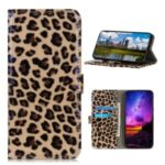 Leopard Texture PU Leather Wallet Stand Phone Case for Sony Xperia 5 II