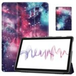 Pattern Printing Tri-fold Stand Leather Smart Cover for Huawei MatePad 10.8 (2020) – Galactics