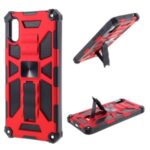 Armor Shockproof Kickstand PC TPU Phone Case with Magnetic Metal Sheet for Xiaomi Redmi 9A – Red