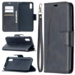 Solid Color with Wallet Leather Cover for Xiaomi Redmi 9A – Black