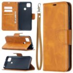 With Wallet Leather with Stand Stylish Case for Xiaomi Redmi 9C – Brown