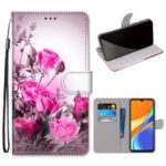 Pattern Printing Wallet Leather Case with Strap for Xiaomi Redmi 9C – Pretty Flower