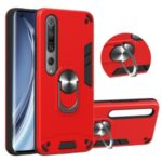 Detachable 2-in-1 PC + TPU Case [with Kickstand and Magnetic Holder Metal Sheet] for Xiaomi Mi 10/Mi 10 Pro 5G – Red