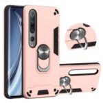 Detachable 2-in-1 PC + TPU Case [with Kickstand and Magnetic Holder Metal Sheet] for Xiaomi Mi 10/Mi 10 Pro 5G – Rose Gold