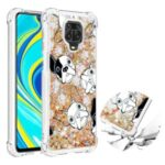 Liquid Glitter Powder Patterned Quicksand Shockproof TPU Back Case for Xiaomi Redmi Note 9S / Redmi Note 9 Pro – Dog