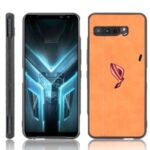 Leather Coated PC + TPU Combo Shell for Asus ROG Phone 3 ZS661KS/3 Strix – Yellow