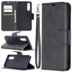 With Wallet Leather Shell Unique Design Case for Oppo Find X2 Neo – Black