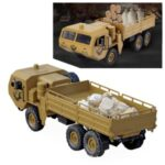 JJRC Q75 2.4G Remote Control 6WD Military Truck RC Car Toy with Headlight – Yellow